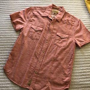 Men's Lucky Brand Button Down Short Sleeve Shirt